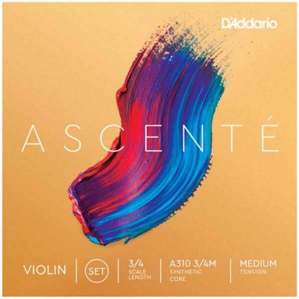 Geige saiten D'addario Ascenté Violin A310, 3/4 Scale, Medium Tension