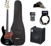 E-bass set Eastone JAB +Eden EC8 +Accessories - Black