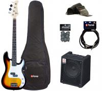 E-bass set Eastone PRB +Eden EC8 +Accessories - 3 tone burst