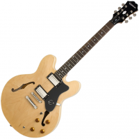 Semi-hollow e-gitarre Epiphone Dot - Natural