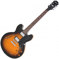 Semi-hollow e-gitarre Epiphone Dot - Vintage sunburst