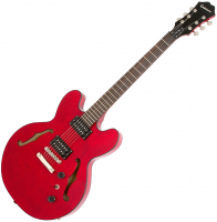 Semi-hollow e-gitarre Epiphone Dot Studio - Cherry
