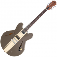 Semi-hollow e-gitarre Epiphone Tom Delonge ES-333 - Brown