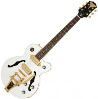 Semi-hollow e-gitarre Epiphone Wildkat Royale - Pearl white