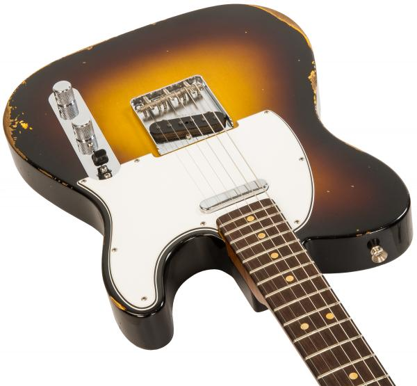 Solidbody e-gitarre Fender Custom Shop 1963  Telecaster Custom #R105507 - relic wide fade 2-color sunburst