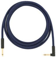 Kabel Fender Festival Pure Hemp Instrument Cable, Straight/Angle, 10ft - Blue Dream