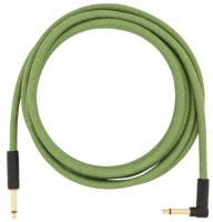 Kabel Fender Festival Pure Hemp Instrument Cable, Straight/Angle, 10ft - Green