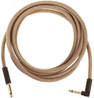Kabel Fender Festival Pure Hemp Instrument Cable, Straight/Angle, 10ft - Natural