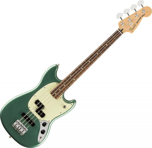 E-bass für kinder Fender Player Mustang Bass PJ Ltd (MEX, PF) - Sherwood green metallic