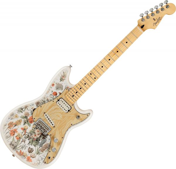 Solidbody e-gitarre Fender Shawn Mendes Foundation Musicmaster (MEX, MN) - Yellow floral