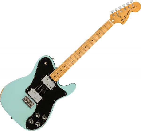 Solidbody e-gitarre Fender Road Worn '70s Telecaster Deluxe (MEX, MN) - Daphne blue