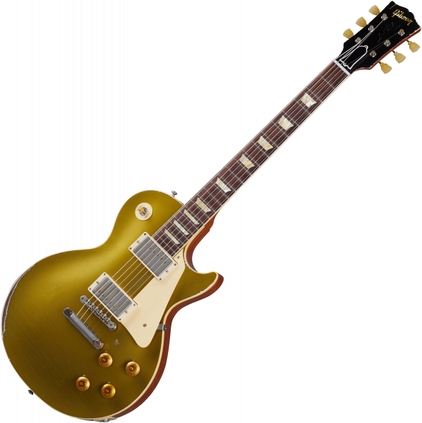 Solidbody e-gitarre Gibson Custom Shop Murphy Lab 1957 Les Paul Goldtop Reissue - Ultra heavy aged double gold