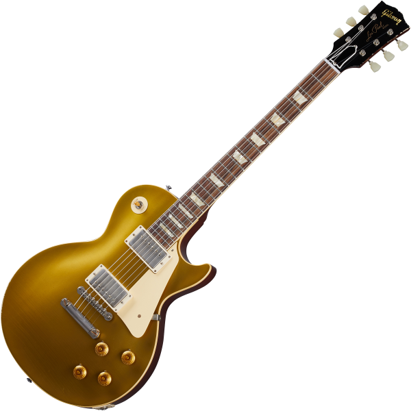 Solidbody e-gitarre Gibson Custom Shop Murphy Lab 1957 Les Paul Goldtop Reissue - Light aged double gold with dark back