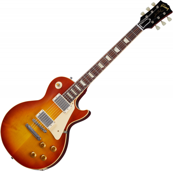 Solidbody e-gitarre Gibson Custom Shop Murphy Lab 1958 Les Paul Standard Reissue - Ultra light aged washed cherry sunburst