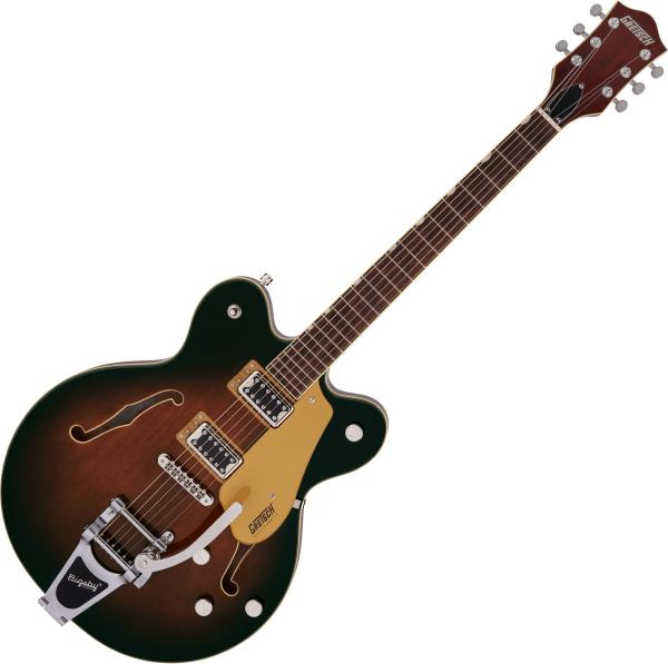Semi-hollow e-gitarre Gretsch G5622T Electromatic Center Block Double-Cut with Bigsby - Single barrel burst