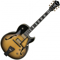 Semi-hollow e-gitarre Ibanez George Benson LGB300 VYS Prestige Japan - Vintage yellow sunburst