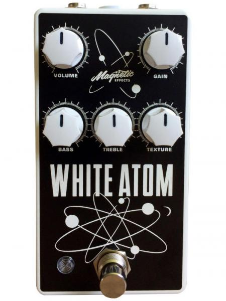 Overdrive/distortion/fuzz effektpedal Magnetic effects White Atom V3 Silicon/Germanium Fuzz