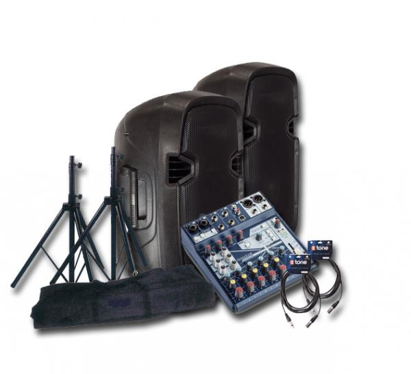 Komplettes pa system set X-tone Bundle SMS-10A Mix8 Notepad