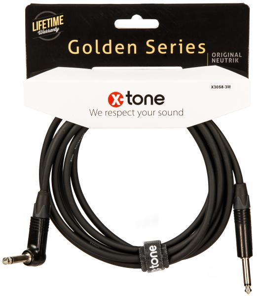 Kabel X-tone X3058-3M Instrument Cable Right/Angled 3m