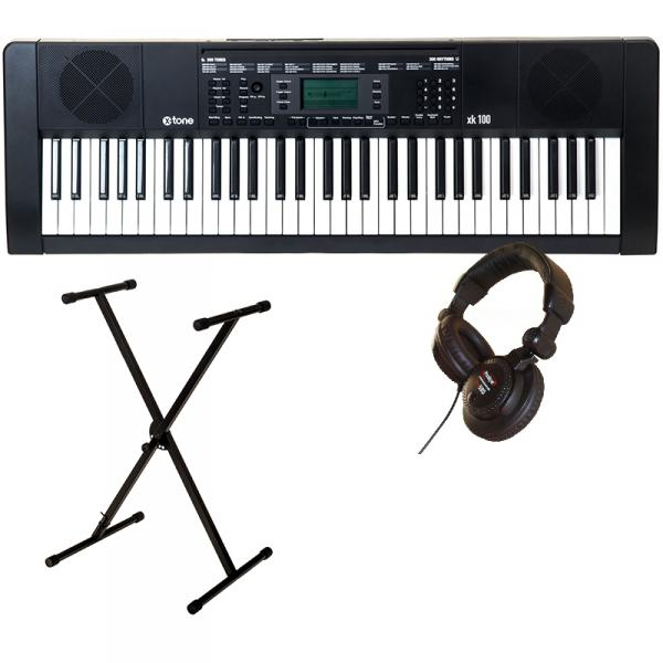 Entertainerkeyboard X-tone XK100 + casque pro 580 + stand X